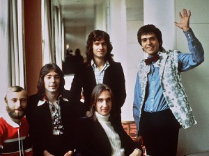Genesis at The Savoy Hotel in London in 1975.