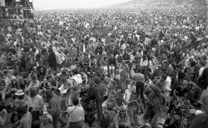 The Isle of Wight festival in 1970. (Photographer unknown)