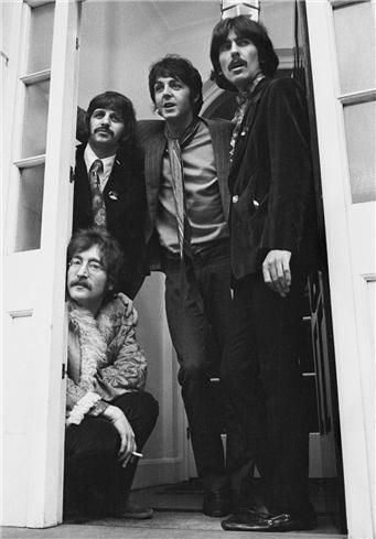 The Beatles in Belgravia, at Brian Epstein's home when Sgt. Pepper was launched.
