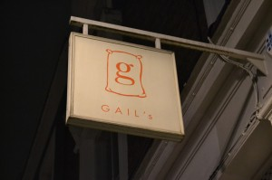 "The ""So"" App was discussed with Peter Gabriel at Gail's Bakery, in Portobello Rd."