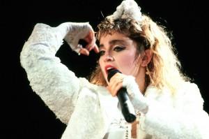 Madonna on stage in 1985. © 1985 Armando Gallo.